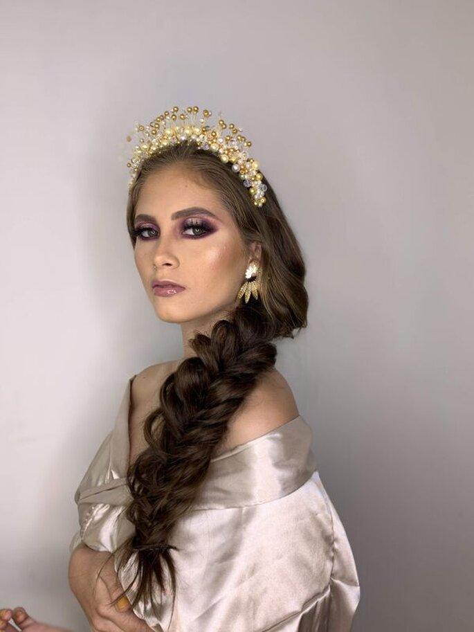 Derlyn Rada Beauty Novia con Corona