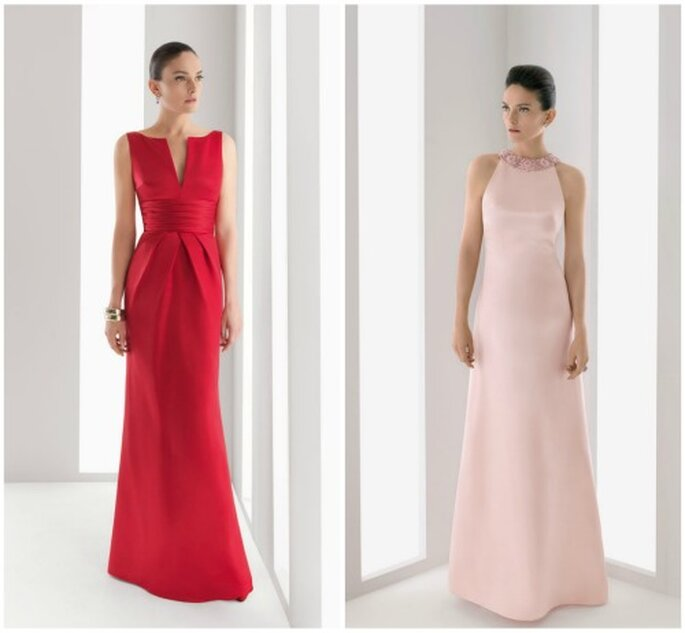 Vestidos de fiesta sencillos de Rosa Clará