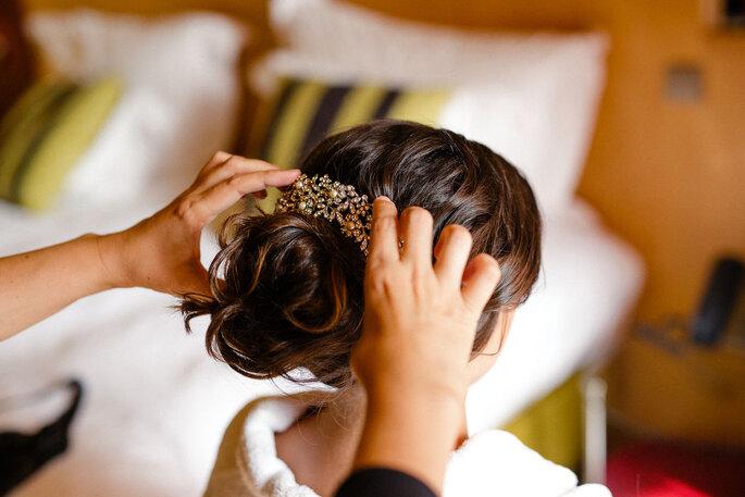 uma noiva a ser penteada - Fiu Criativo Makeover