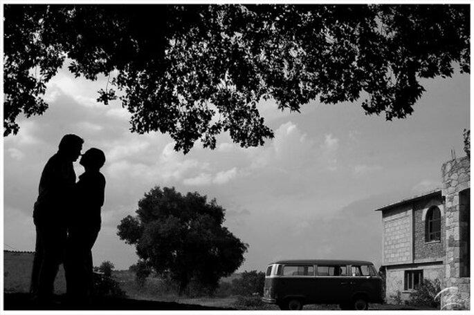 Foto de preboda en blanco y negro - Foto Emmanuel Aquino