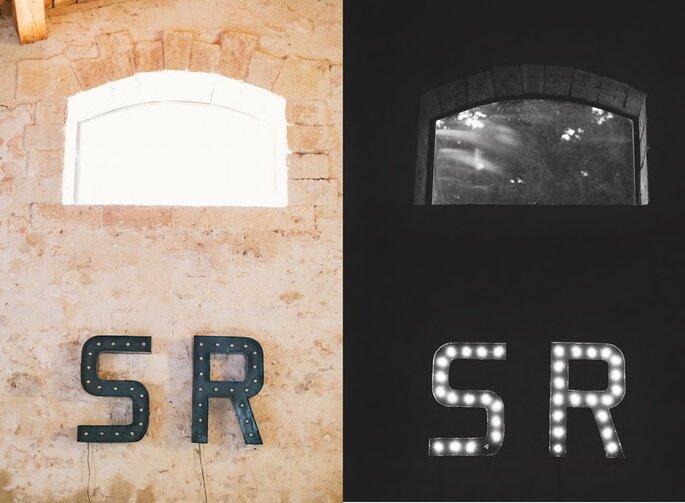 Vos initiales pour une touche rétro industrielle... - photo : Laurent Brouzet Photographe