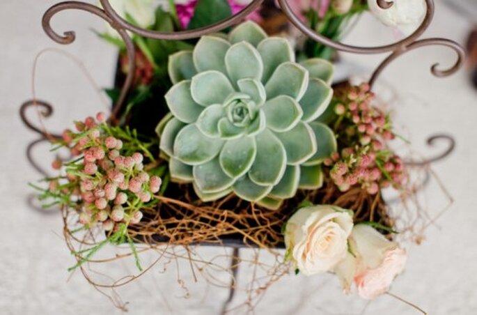 Ramos de novia con plantas suculentas de moda en 2013 - Foto Nadia Meli