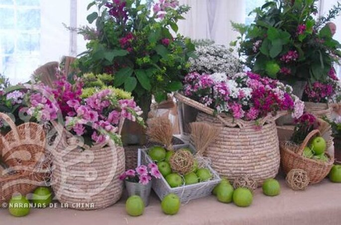 Frutas y flores para la decoración de tu boda - Naranjas de la China