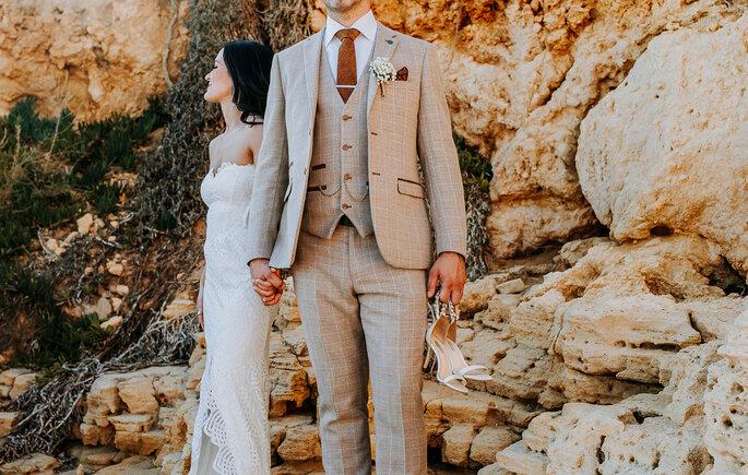 Foto artística dos noivos