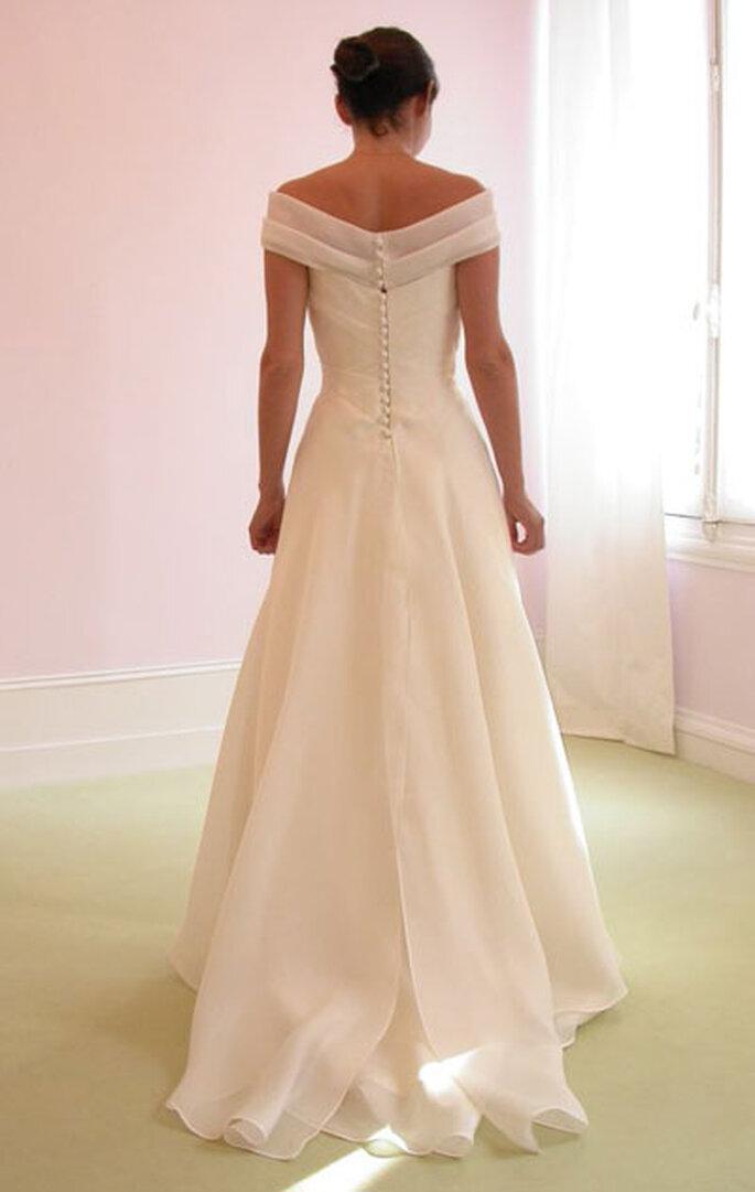 Robe de mariée Géraldine Lemonnier-Leblanc - Création sur-mesure, bandeau amovible
