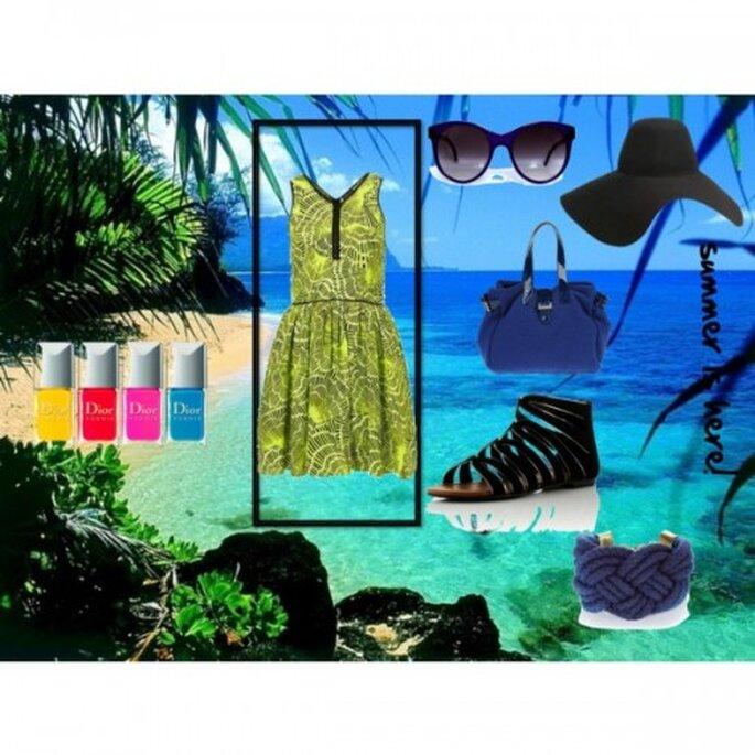 Vestido: Topshop, Sandalias: bankfashion.co.uk, gafas de sol: Gargyle.com, Sombrero: Lanvin