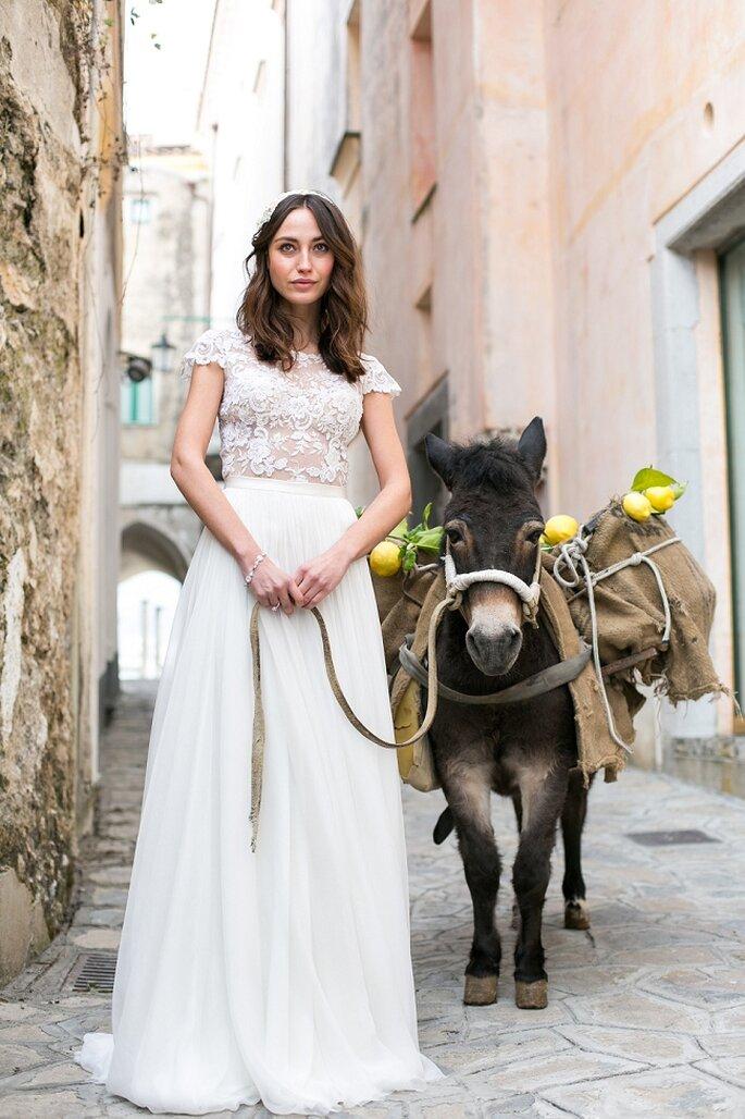 Inspiración desde una novia bohemia en la Costa de Amalfi, Italia. Foto: Anneli Marinovich