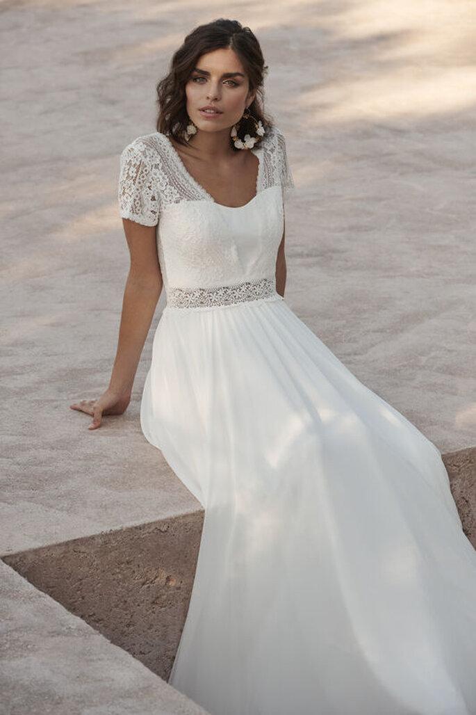 Robe de mariée empire bustier