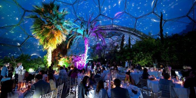 Mediterraneann Biome at Night - The Eden Project