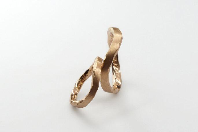 Alianças Leventina em ouro rosé 18k