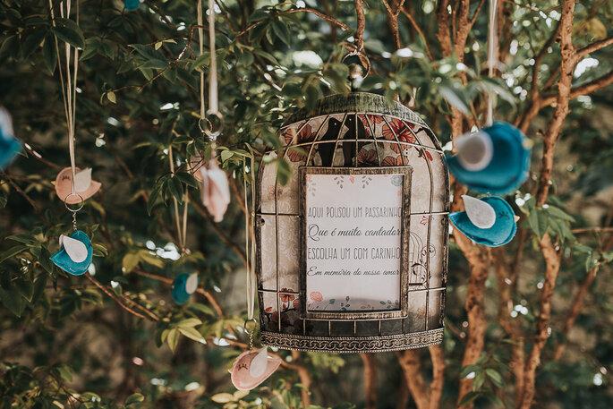 Decoração romântica para mini weddings
