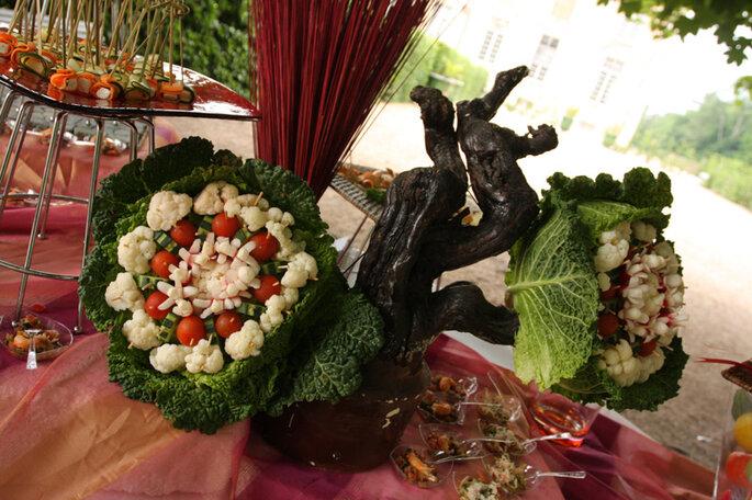 Buffet de mariage vert : la nature dans toute sa splendeur