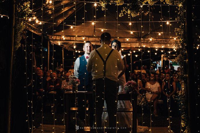 Luzes decoração casamento