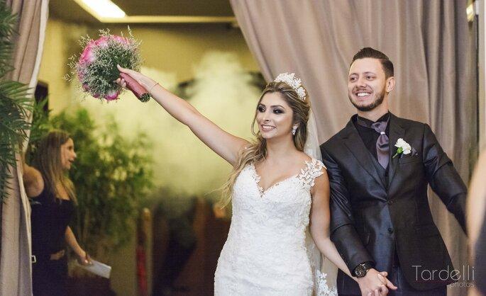Entrada dos noivos na pista