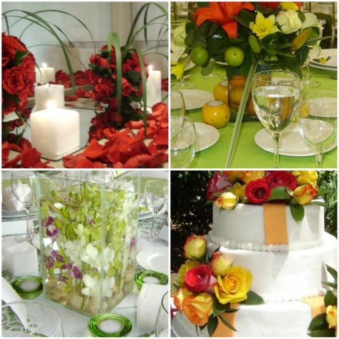 Decora las mesas con colores vivos. Foto: Sal y Dulce Eventos