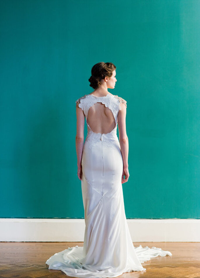 """Vista posterior - vestido de novia """"Pemberley"""" de Carol Hannah. Foto:"""