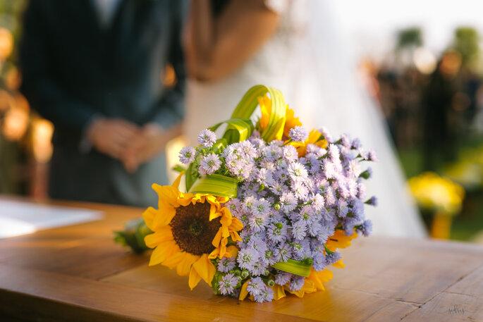 buquê de noiva campestre