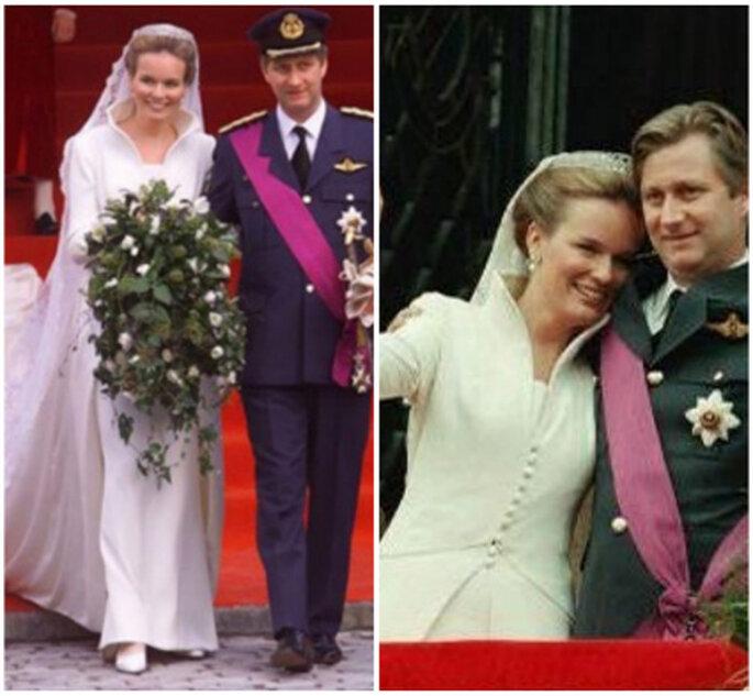Vestido de novia de Matilde de Bélgica