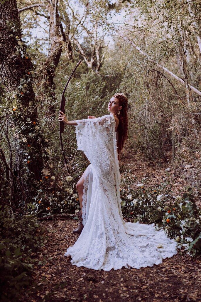 vestido de noiva de casamento medieval