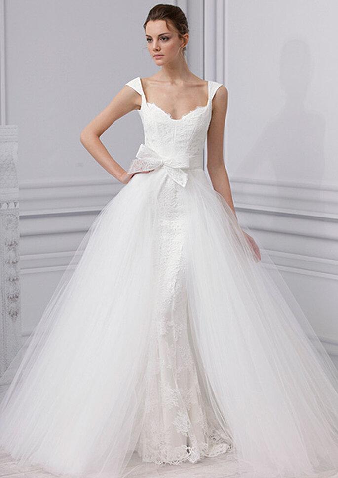 Robe de mariée coupe princesse, Monique Lhuillier 2013. Photo : Monique Lhuillier