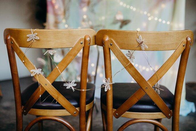 Decoração cadeira dos noivos