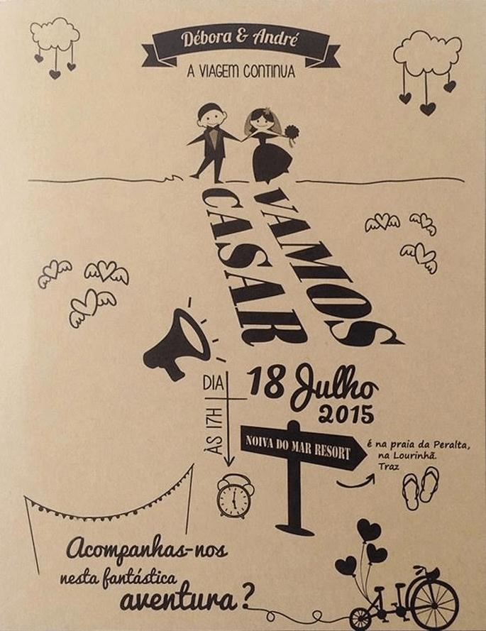 Convites: Designer Nicole Vidal