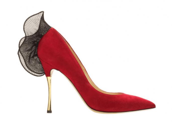 Zapatos de novia 2014 con detalles en color rojo intenso - Foto Nicholas Kirkwood