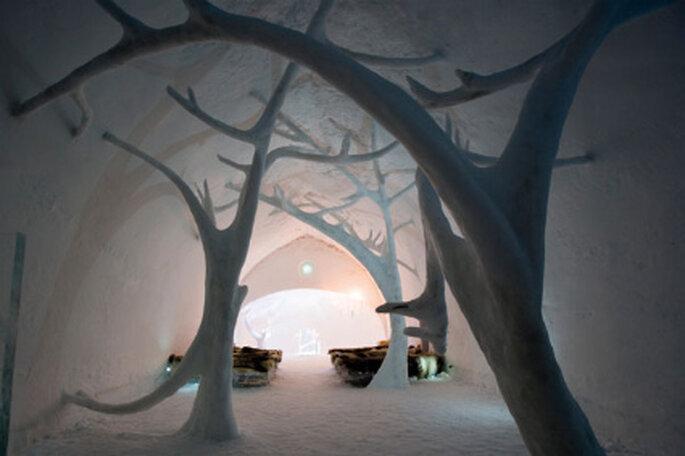 Capilla de hielo para boda de Icehotel en Suecia
