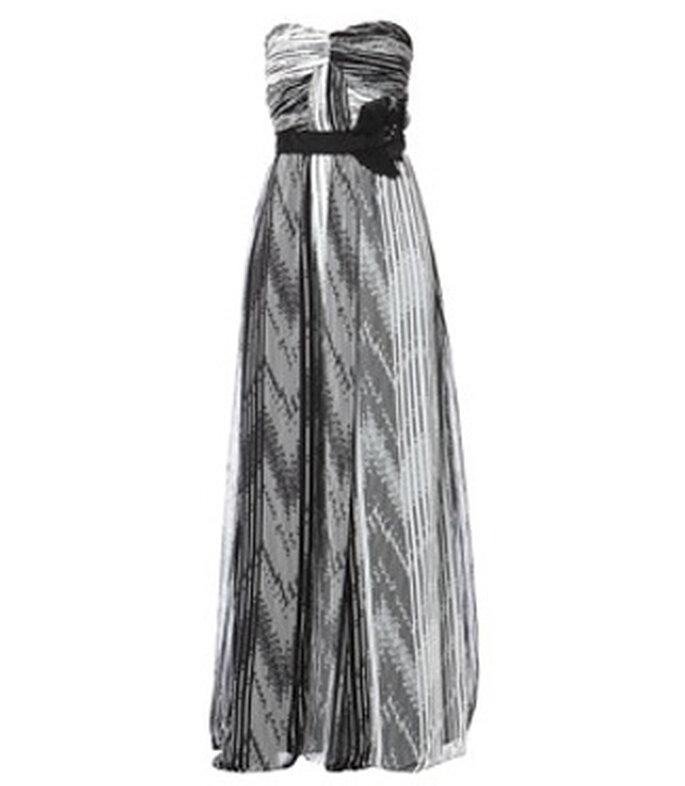Robe de soirée noire et blanche Manoukian - BrandAlley
