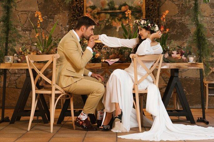 Noivos com calçado Namorarte
