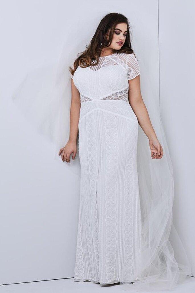 Vestido de noiva plus size para casamento civil