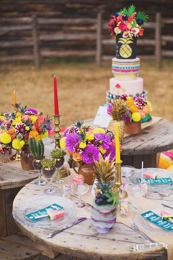 Papeterie : Pastilles et petits pois/Photographe : A l'orée des Fées / Fleurs : Flowers By Jue