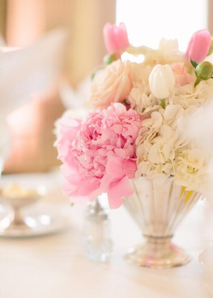 Los centros de mesa con peonías se verán increíbles - Foto Marta Locklear
