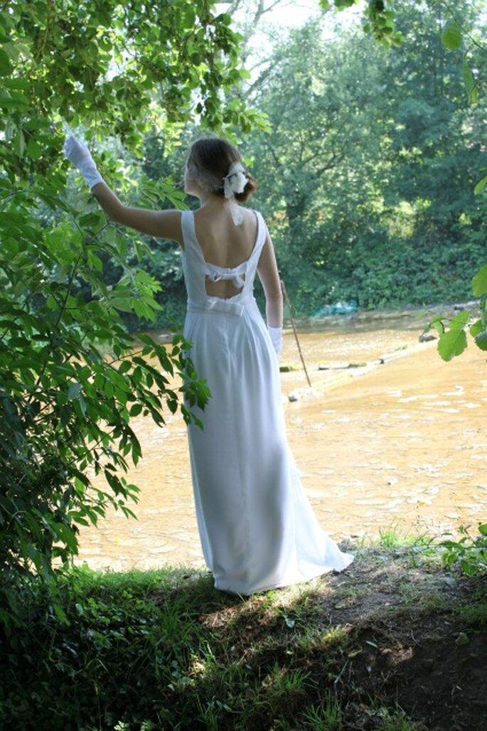 Robe de mariée sur mesure Pascale de Lavernette 2014 - Modèle : Tiffany