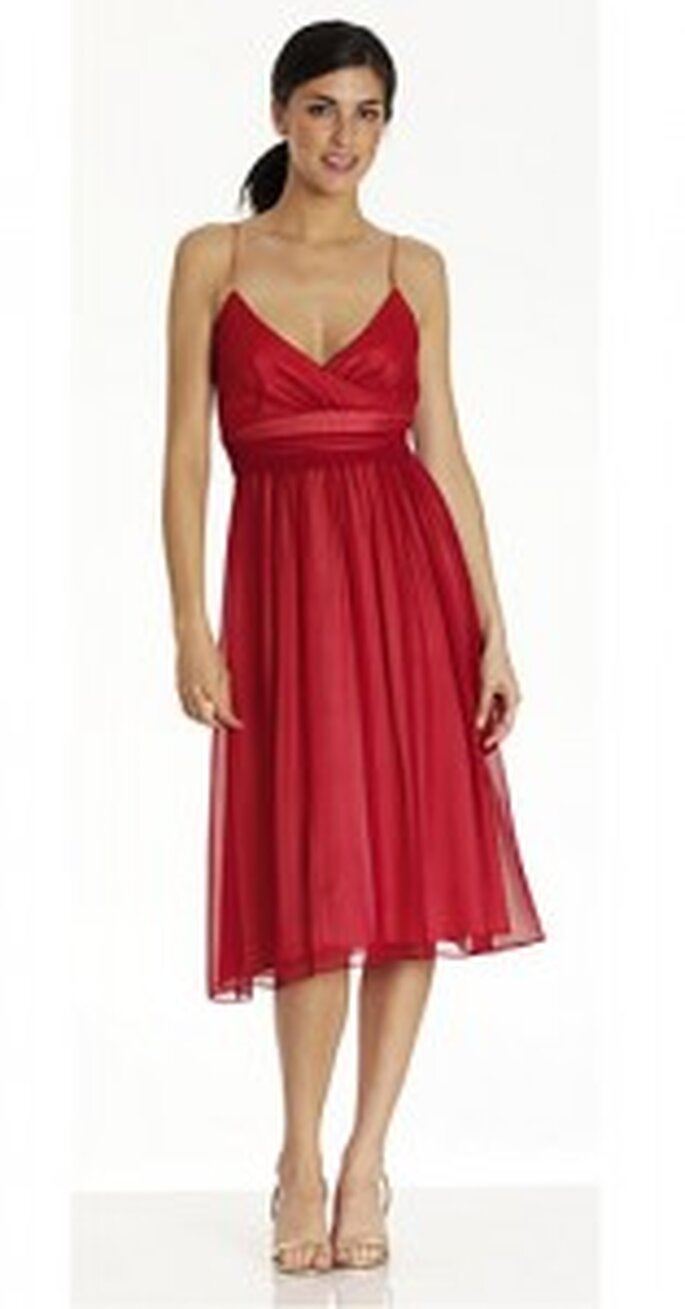 Red bridesmaid dress from Thread
