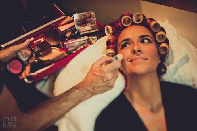 Maquillaje de día para ir a una boda. Foto: Fran Russo