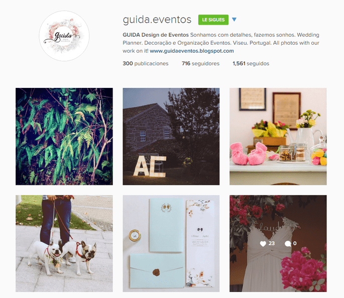 Instagram Guida Design de Eventos