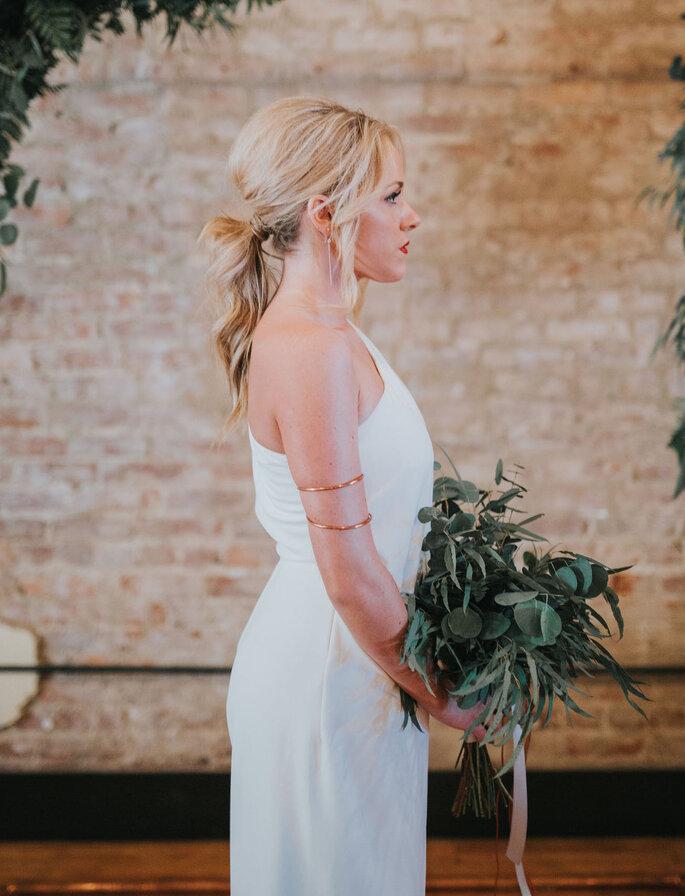 Peinados de novia con coleta