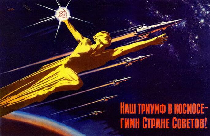 Наш триумф в космосе - гимн Стране Советов!, худ. В. Викторов