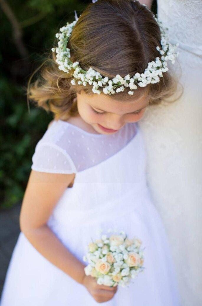 Couronne de fleurs de mariage pour petite-fille