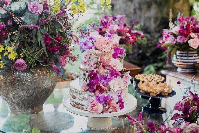 Naked Cake para casamento