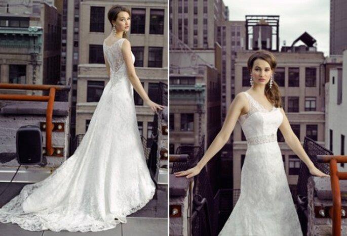 Vestido de novia con encaje en la espalda - Foto Henry Roth, Polkadot Bride