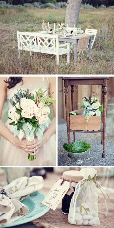 Incluye las plantas con olor en los centros de mesa de tu boda - Foto AE Martin Photography
