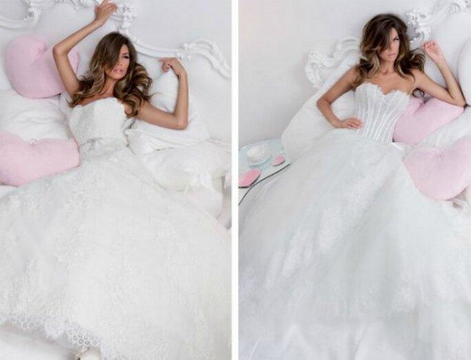 Melissa Satta versione sposa interpreta alcuni abiti della Collezione 2012 di Nicole Spose
