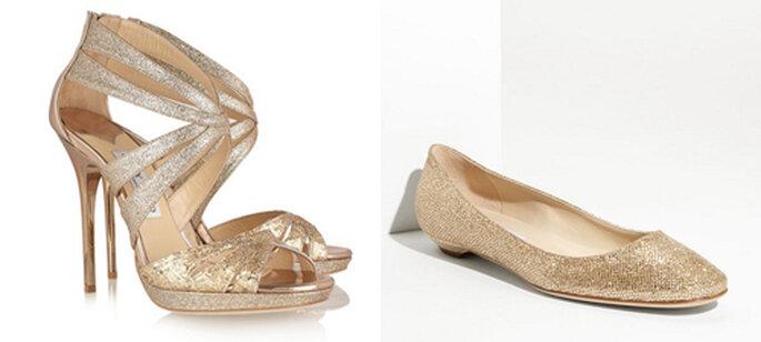 Scarpe da sposa: scegliete anche scarpe di ricambio in pendant con il vostro look per darvi alle danze! Foto: Net-a-Porter e Nordstrom