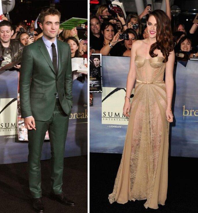 El estilo de Kristen Stewart y Robert Pattinson en el estreno de Breaking Dawn parte 2 - Foto Facebook de Zuhair Murad y Gucci