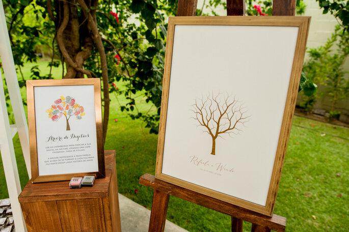 Árvore de digitais em casamentos