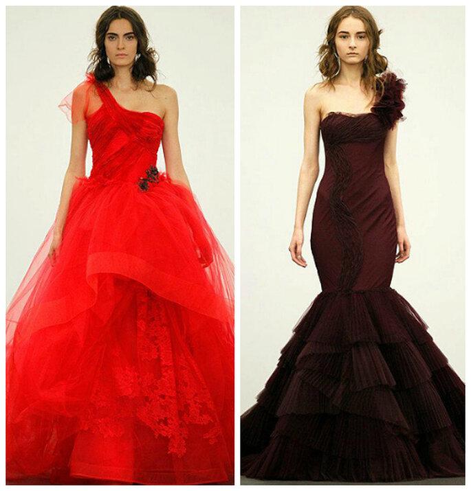 kolorowa suknia ślubna czerwona
