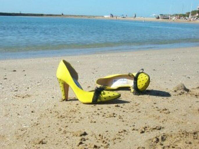 Zapatos de novia amarillos - Mademoiselle Rose