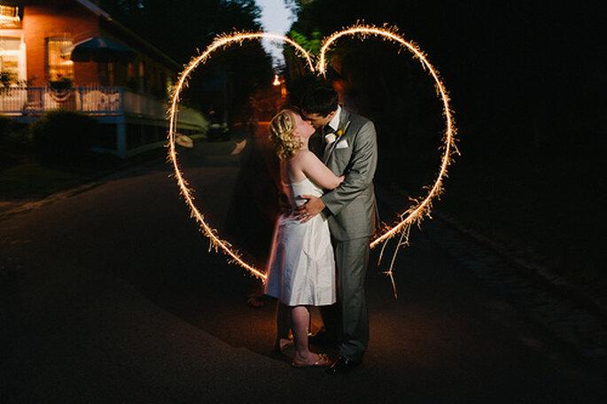 Otras ideas para plasmar corazones en tu boda. Foto de Alexandra Roberts
